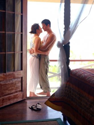 Sueños eróticos en un balcón