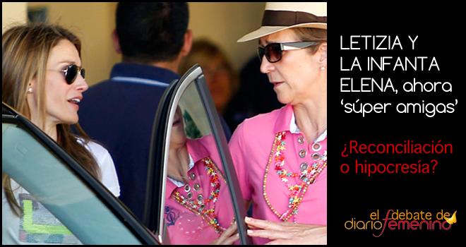 Letizia y la Infanta Elena: ¿'nuevas amigas' o grandes actrices?