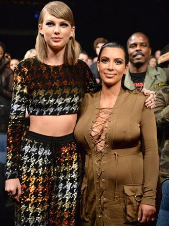 Así es la guerra abierta entre Kim Kardashian y Taylor Swift
