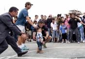 Rafa Nadal, un as del tenis también entre los niños