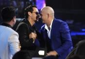 Pitbull y Marc Anthony durante los Premios Grammy Latino 2013