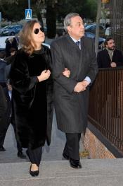 Florentino Pérez también acudió al funeral de Irene Vázquez