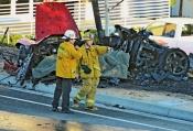 Un amasijo de hierro fue lo único reconocible del accidente de Paul Walker