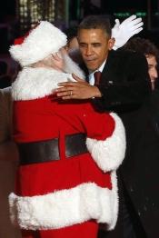 Barack Obama, el mejor amigo de Papá Noel