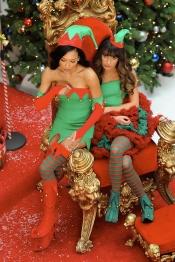 Naya Rivera y Lea Michele: las duendecillas de Navidad de Glee