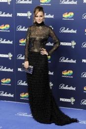 El tétrico vestido de Edurne en los Premios 40 Principales 2013