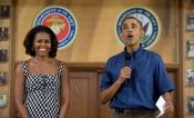 Michelle Obama anima al ejército en Navidad