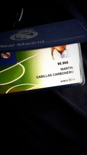 Martín Casillas Carbonero, socio 96.966 del Real Madrid