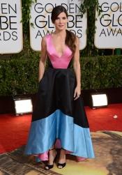 Sandra Bullock, la más hortera de los Globos de Oro 2014