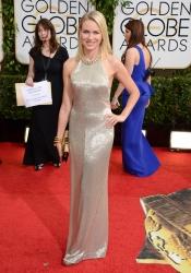 Naomi Watts, guapa y sencilla en los Globos de Oro 2014
