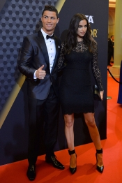 Cristiano Ronaldo e Irina Shayk, radiantes en la gala del Balón de Oro
