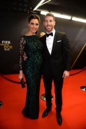 Pilar Rubio lució un elegante vestido premamá junto a Sergio Ramos