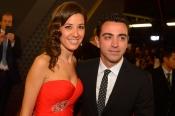 Nuria Cunillera y Xavi Hernández, de los más elegantes en Zurich