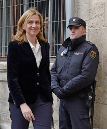 La sonrisa de la Infanta Cristina en los juzgados, ¿nerviosa o de confianza?