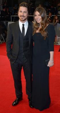 Christian Bale y su mujer Sibi Blazic, en la alfombra roja de los BAFTA 2014