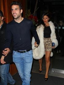 Cesc Fàbregas y su novia, Daniella Seeman disfrutaron de una cena romántica en Londres