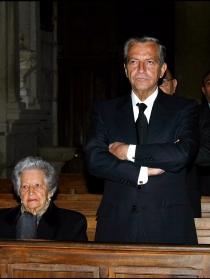Adolfo Suárez en el funeral de su mujer Amparo Illana