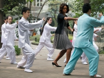 Michelle Obama se pasa al tai-chi
