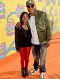 El rapero LL Cool J y su hija en los Kids Choice Awards 2014