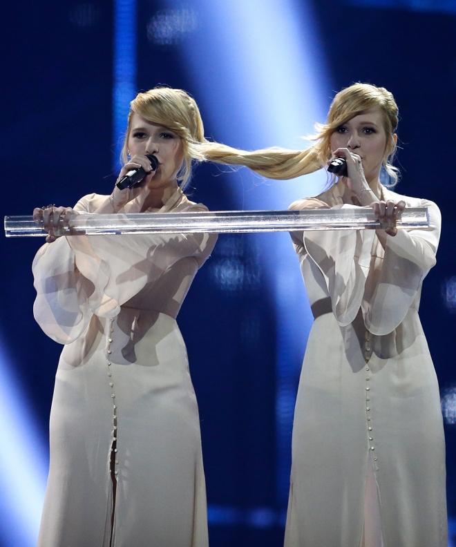 Las gemelas Tolmachevy, rusas y unidas por su pelo en Eurovisión 2014