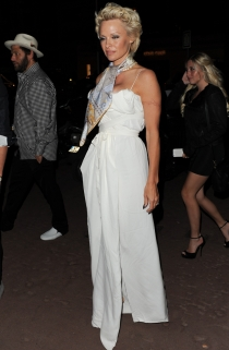 Pamela Anderson, con un look muy arriesgado en Cannes 2014