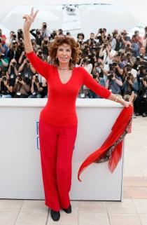 Sophia Loren, la veterana más elegante de Cannes 2014