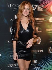 Lindsay Lohan no faltó a su cita con Cannes 2014