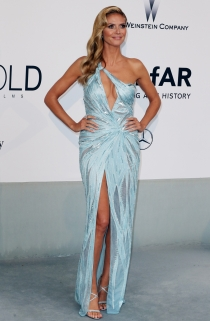 Heidi Klum paseó su belleza por Cannes 2014