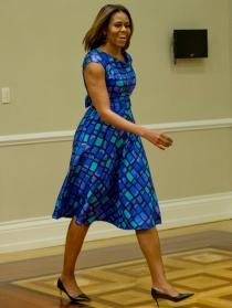 El azul, el color más elegido por Michelle Obama