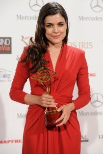 Adriana Ugarte, galardonada en los Premios Iris 2014