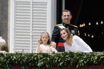 Letizia y Felipe, reyes de España, junto a Leonor, Princesa de Asturias
