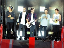 One Direction, durante su concierto en Alemania de la WWAT