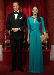 Las réplicas de Kate Middleton y el príncipe Guillermo, en Londres
