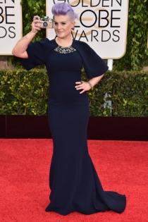 Globos de Oro 2015: Kelly Osbourne, muy discreta con un George Chakra