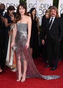 Dakota Johnson, Cincuenta Sombras de Grey de los Globos de Oro 2015