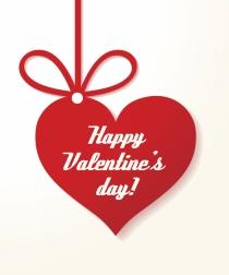 Feliz San Valentín, tres palabras en una tarjeta para un día especial