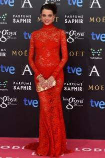 Macarena Gómez, todo por el rojo en los Goya 2015