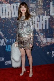 Dakota Johnson, el toque glitter de la noche