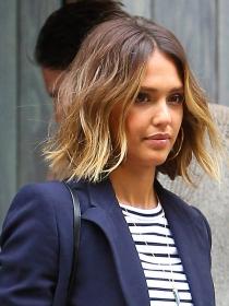 Peinados de famosas: long bob de Jessica Alba