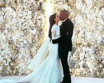 Kim Kardashian y Kanye West se dieron el sí quiero el 24 mayo de 2014
