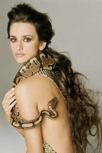 Penélope Cruz, amor por las serpientes