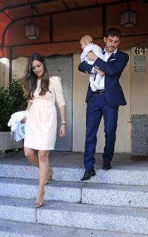 Iker y Sara, en el bautizo de Martín Casillas Carbonero