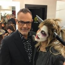 Ylenia disfrazada de Halloween con Jordi González