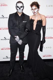 Jennifer Lopez y Casper Smart, un terrorífico Halloween juntos