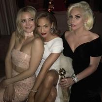Globos de Oro 2016 en Instagram: Kate Hudson, Lady Gaga y JLo