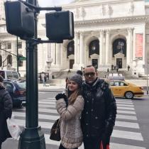 Risto Mejide, apoyando a Laura Escanes en Nueva York