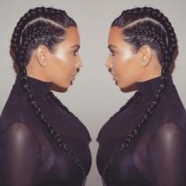 Boxer braids, la nueva obsesión de Kim Kardashian