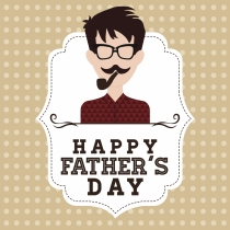 Tarjetas para el Día del Padre: una felicitación muy hipster