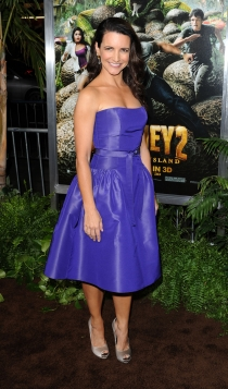 Kristin Davis, ideal con un vestido azul