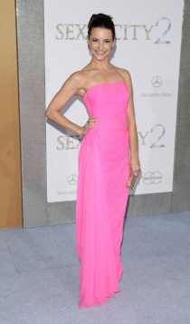 Kristin Davis, el vestido rosa de Sexo en Nueva York